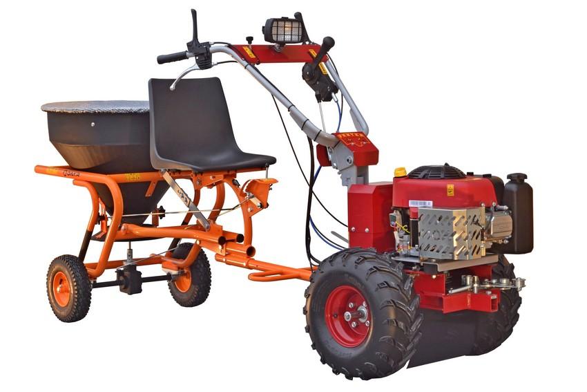 Rozmetadlo soli a umělých granulovaných hnojiv KRH 03 se sedačkou